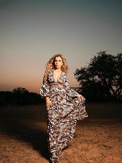 Wild Print Maxi Dress