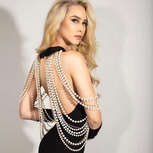 The Audrey pearls gown