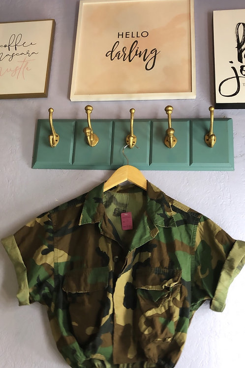 Camo Bomber Crop Jacket