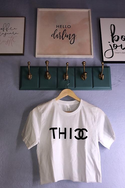 This CC white crop t-shirt