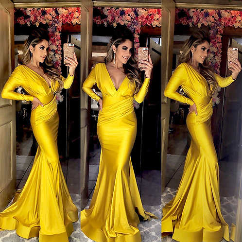 Honey yellow belle gown