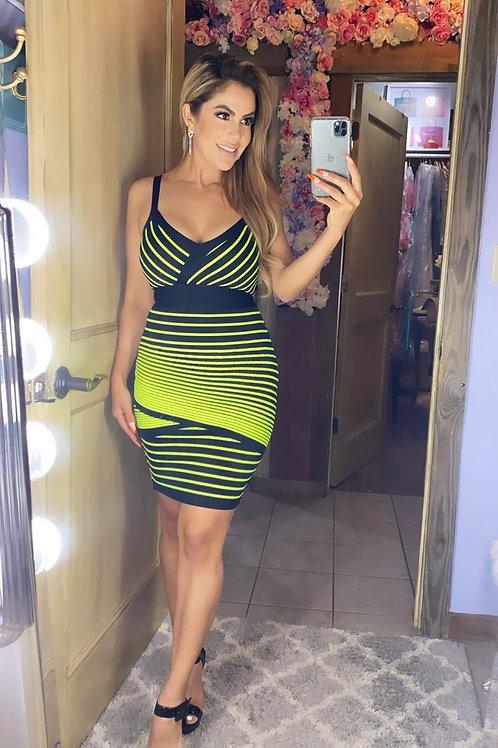 Neon Balmain inspired dress