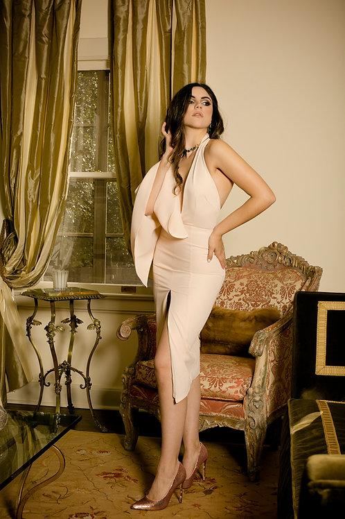 Blush Dress with Cape