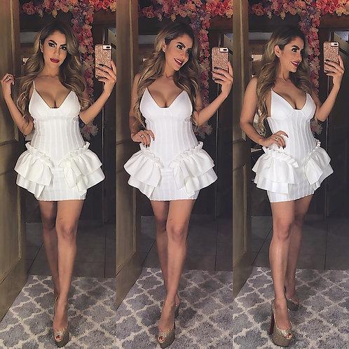 Burlesque White Cocktail Dress