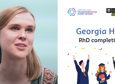 """The embeddedness of work design in occupational context"", PhD completion for Georgia Hay"