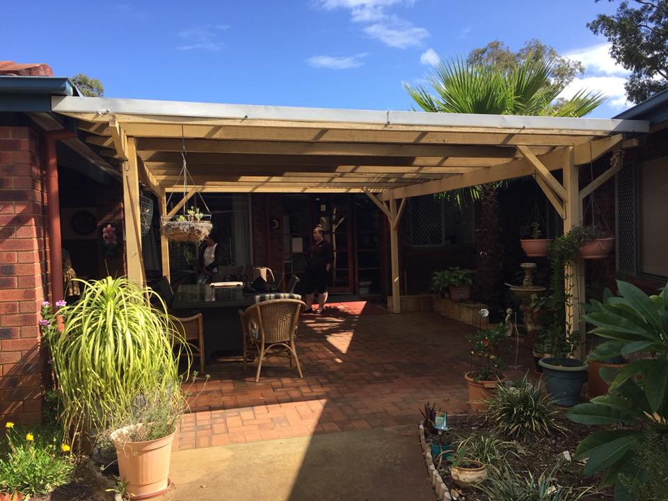 Aged care home courtyard