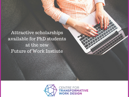 PhD Top Up Scholarships at The Future of Work Institute