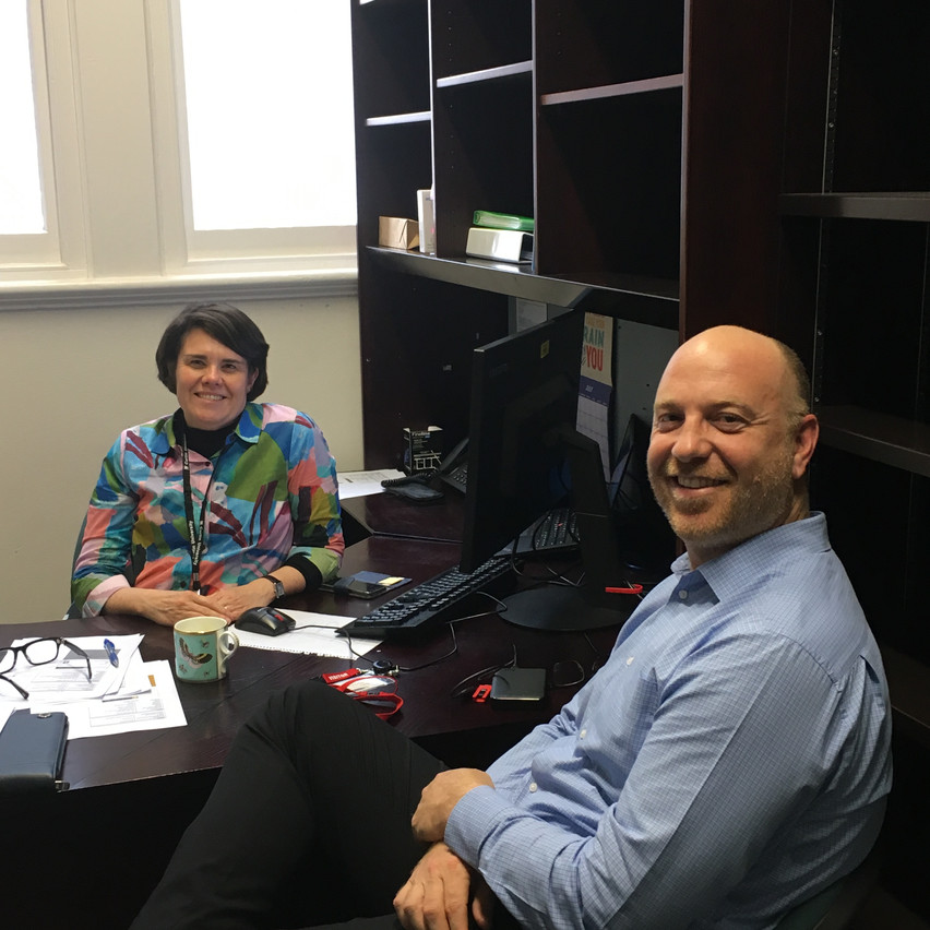 Abbe Rorrison, Centre Manager and Gregory Ryan, Strategic Projects Manager