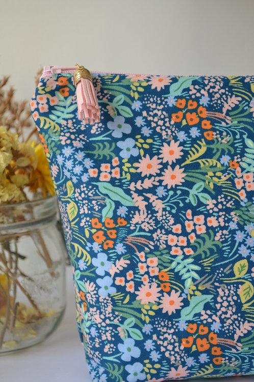 Trousse coton épais fleuri