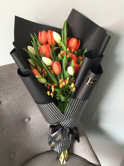 ( 2 decenas tulipán follaje )