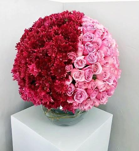 Esfera Grande (165 rosas/ follaje)
