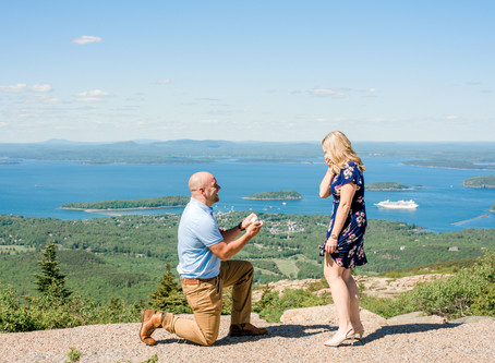 Surprise Proposal - Cadillac Mountain - Acadia National Park