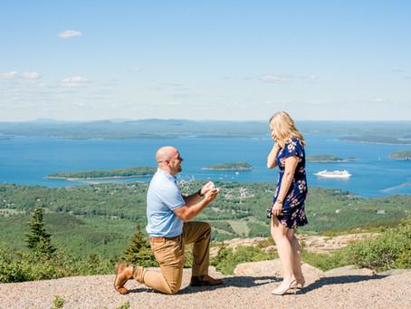 Surprise Proposal - Cadillac Mountain - Acadia National Park