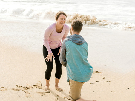 Surprise Proposal - Sand Beach - Bar Harbor, Maine