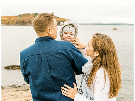 Fall Family Session - Downtown Bar Harbor, Maine