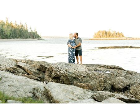 Newbury Neck Maternity Session - Surry, Maine Photographer