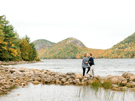 Jordan Pond Engagement Session - Acadia National Park