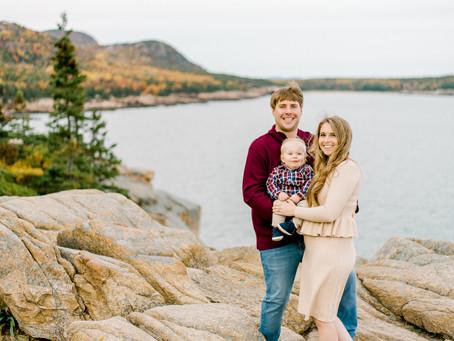 Sand Beach Family Session - Bar Harbor, Maine