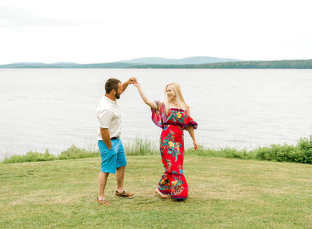 Stephi + Robbie - Engaged - Surry, Maine