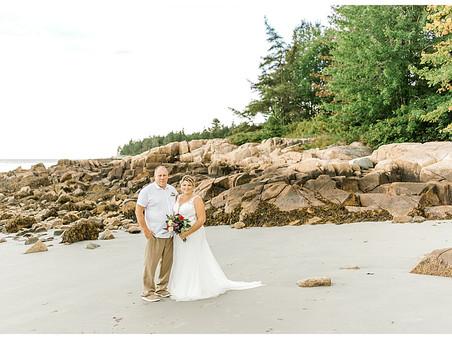 Intimate Vow Renewal On Beach - Maine Wedding Photographer