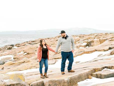 Kiwi + Pat - Engagement Session - Winter Harbor, Me
