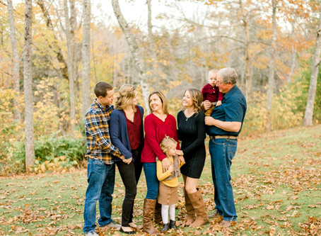 The Beal Family - Fall Session - Steuben, ME