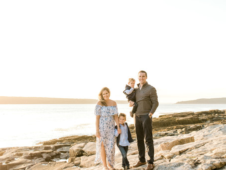 Grindstone Neck Family Session - Winter Harbor, Maine