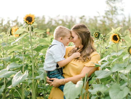 Mommy + Me Apple Orchard Session - Corinth, ME
