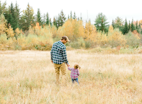 Daddy & Me Fall Session - Steuben, ME