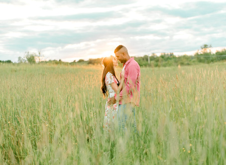 Spring Engagement Session - Cascade Park - Bangor, Maine
