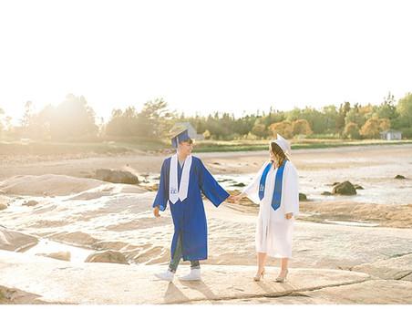 Graduation Cap & Gown Session - Maine Senior Photographer