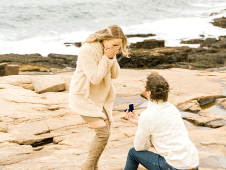 Surprise Proposal | Acadia National Park | Bar Harbor, Maine