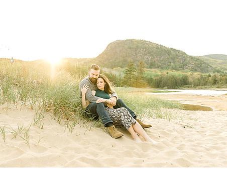 Surprise Beach Proposal | Bar Harbor, Maine Engagement Photographer