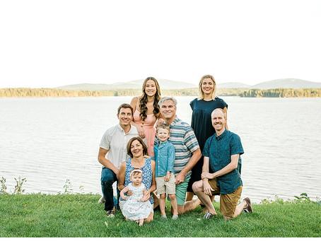 Spring Extended Family Session - Trenton, Maine