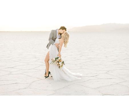 Bonneville Salt Flats Wedding Portraits - Salt Lake City, Utah Photographer