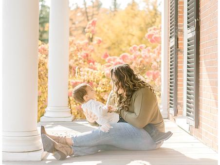 Mommy + Me Fall Mini Session - Ellsworth, ME