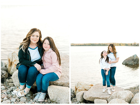 Brittany & Rya - Mommy & Me Session - Steuben, ME
