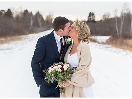 Savana & Aaron - Winter Wedding - Machias, ME