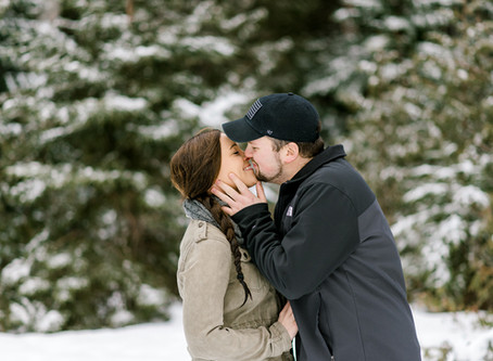 Snowy Couples Session - Gouldsboro, Maine