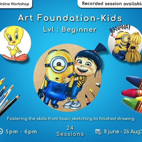 Art Foundation course for Kids - Beginner