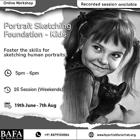Portrait Sketching - Kids