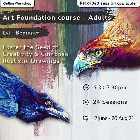 Art Foundation course for Adults - Beginner