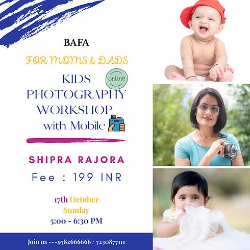 Kids Photography Workshop for Moms & Dads