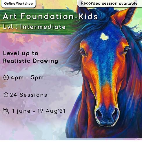 Art Foundation course for Kids - Intermediate