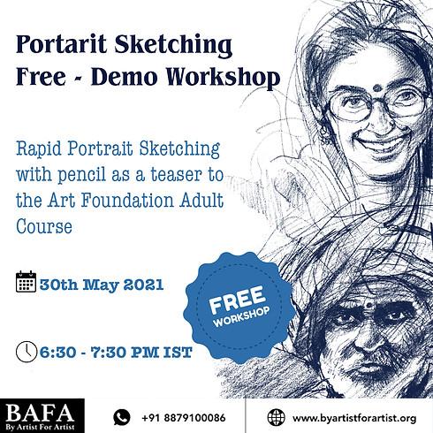 Portrait Sketching Free Demo Workshop