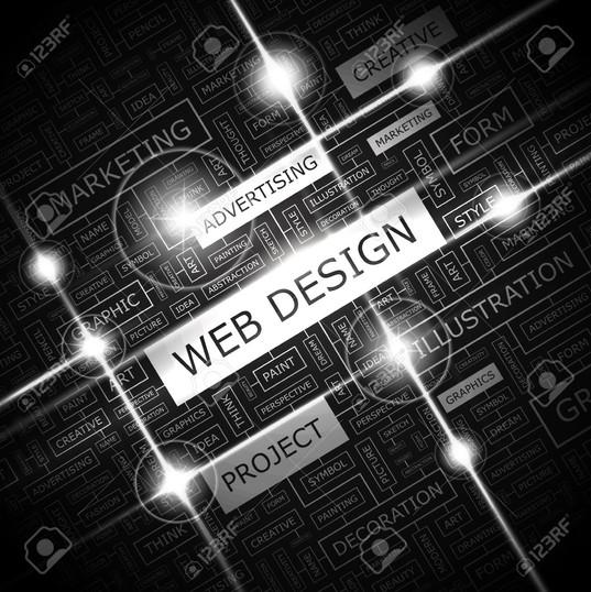 25425547-web-design-background-concept-w