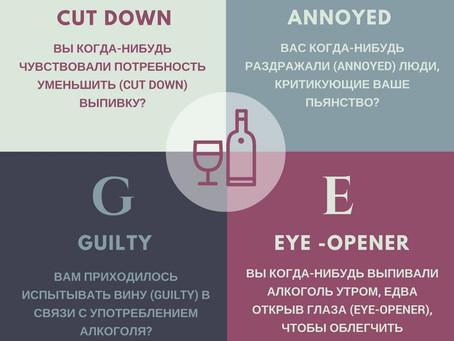 CAGE. Тест быстрой диагностики алкоголизма