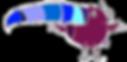 Toucan Logo aplati sans fond MAUVE web.p
