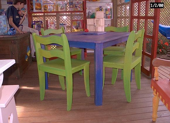 Mobiliario Infantil - Mesa y Sillas Funky