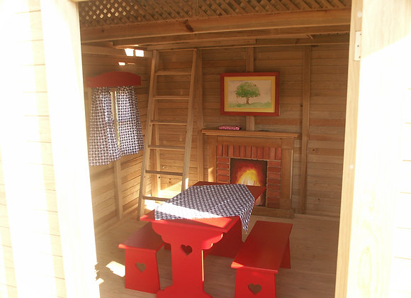 Mobiliario Infantil -Mesa Picnic Corazón